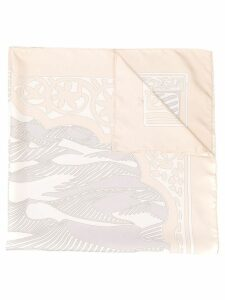 Hermès Pre-Owned 2000's abstract print scarf - Neutrals