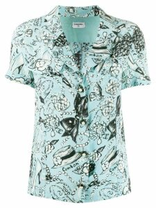 Chanel Pre-Owned Chanel motifs shortsleeved shirt - Blue