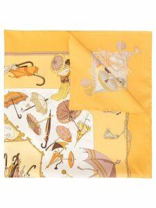 Hermès Pre-Owned Logos Scarf - Yellow
