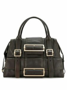 Givenchy Pre-Owned 1990's buckled design tote - Brown