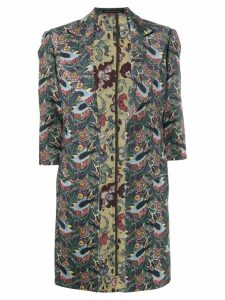 Yohji Yamamoto Pre-Owned 1990's floral coat - Green