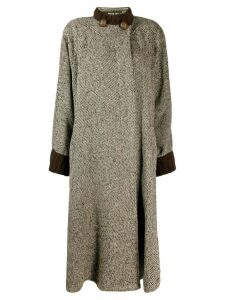 Fendi Pre-Owned 1980's loose long coat - Brown