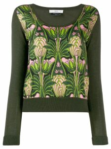 Prada Pre-Owned 1990's floral print knitted blouse - Green