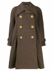 Chanel Pre-Owned 1980's flared double-breasted coat - Brown