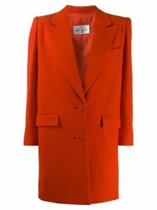 Valentino Pre-Owned 1980's structured elongated blazer - Orange