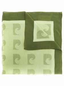 Pierre Cardin Pre-Owned 1970's wave print scarf - Green