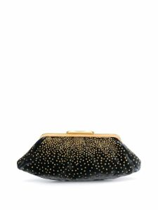 Fendi Pre-Owned 2000's bead embroidery stars clutch - Black