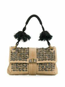 Lanvin Pre-Owned '2000s embellished bag - Neutrals