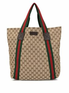 Gucci Pre-Owned GG pattern Shelly tote - Brown