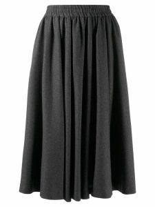 Valentino Pre-Owned 1980's godet midi skirt - Grey