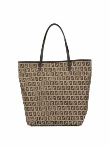 Fendi Pre-Owned Zucca pattern tote bag - Brown