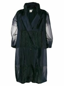 Issey Miyake Pre-Owned long-length coat - Blue