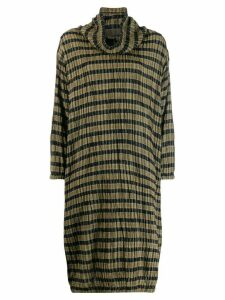 Issey Miyake Pre-Owned 1980's check dress - Green