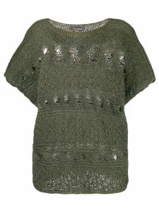 Issey Miyake Pre-Owned open knit blouse - Green