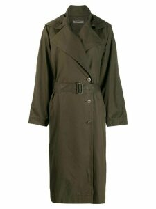 Issey Miyake Pre-Owned oversized trench coat - Green