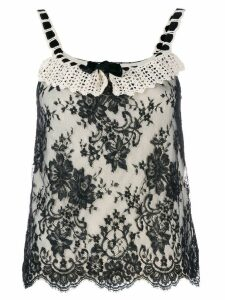 Christian Dior Pre-Owned knitted lace top - Neutrals