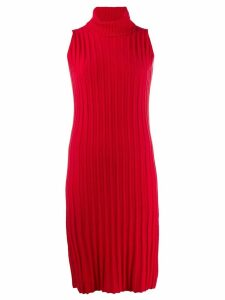 Yohji Yamamoto Pre-Owned 1996 turtleneck knitted fitted dress - Red