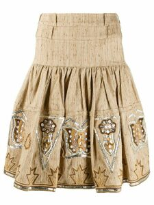 Christian Dior Pre-Owned pleated mini skirt - Neutrals