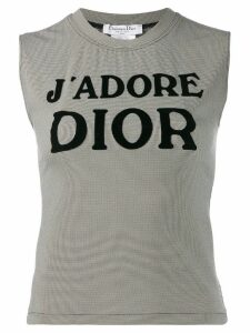 Christian Dior Pre-Owned slogan print top - Black