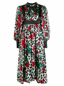Kenzo Pre-Owned rose print midi dress - Black