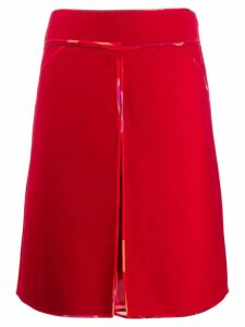 Fendi Pre-Owned 2000's silk lining midi skirt - Red