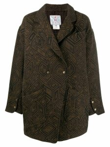 Fendi Pre-Owned 1980's tailored coat - Brown