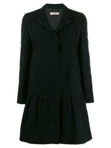 Prada Pre-Owned 1990's dropped hem coat - Black
