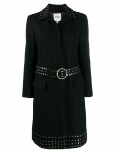 Moschino Pre-Owned 2000's studded midi coat - Black