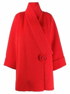 Nina Ricci Pre-Owned 1980's off-centre wool coat - Red