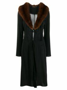 Dolce & Gabbana Pre-Owned 1990's tie fastening coat - Black