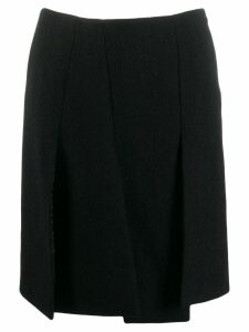 Prada Pre-Owned 1990's front slit skirt - Black