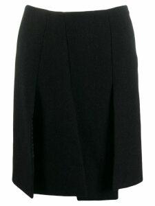 Prada Pre-Owned 1990's front slit skirt - Black