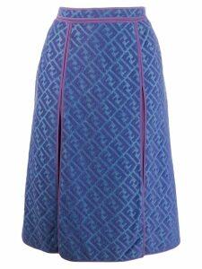 Fendi Pre-Owned 2000's jacquard FF logo skirt - Blue