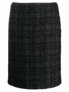Prada Pre-Owned 2000's plaid knitted skirt - Black
