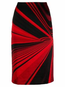 Versace Pre-Owned 1990's abstract vector printed skirt - Red