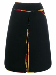 Fendi Pre-Owned 2000's contrasting silk piping skirt - Black