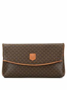 Céline Pre-Owned Macadam pattern clutch bag - Brown