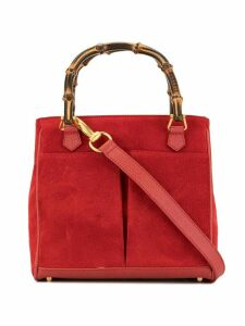 Gucci Pre-Owned bamboo handle tote - Red