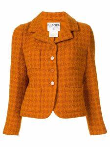 Chanel Pre-Owned long sleeve tweed jacket - Orange