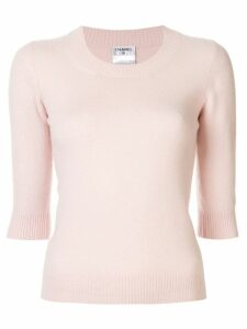 Chanel Pre-Owned knitted cashmere top - Pink
