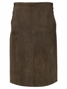 Hermès Pre-Owned high-waisted pencil skirt - Brown