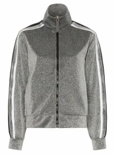 No Ka' Oi sparkle stripe-trimmed track top - Metallic