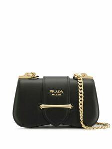 Prada sidonie saffiano shoulder bag - Black