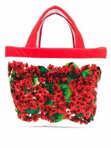Dolce & Gabbana floral print tote bag - Red