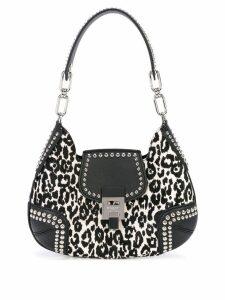 Michael Kors Bancroft studded shoulder bag - Black