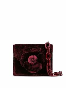 Oscar de la Renta floral shape tote bag - Red