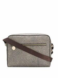 Borbonese all-over print shoulder bag - Neutrals