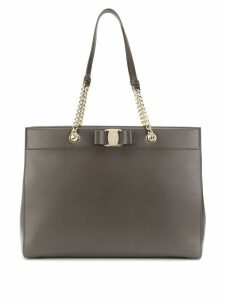 Salvatore Ferragamo Vara bow detail tote - Grey