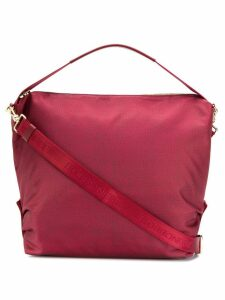 Borbonese logo handle tote - Red