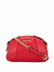 Miu Miu logo crossbody bag - Red